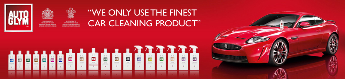 We only use the finest car cleaning product, Autoglym at Car Valet Cornwall